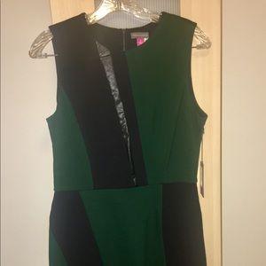 NWT Vince Camuto SZ 6 Green/Black Dress 67% Off!